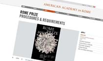 American Academy in Rome ROME PRIZE