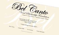 Bel Canto Vocal Scholarship Foundation