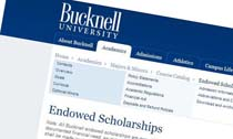 Bucknell University Endowed Scholarships