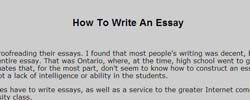 How to write an essay kimberly chapman