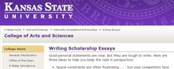 Custom university admission essay kansas state