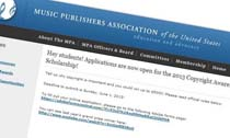 Music Publishers Association Copyright Awareness Scholarship