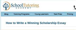 School Tutoring Academy how to write a winning scholarship essay