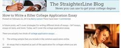 How to write a killer college application