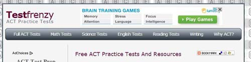 TestFrenzy ACT Practice TEsts