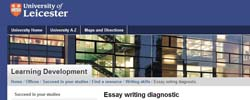 Writing dissertation university leicester