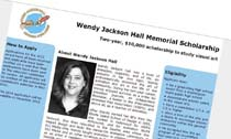 Wendy Jackson Hall Memorial Scholarship Program