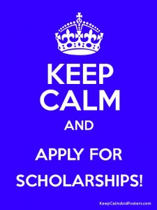 Keep Calm blue poster Scholarship Myths