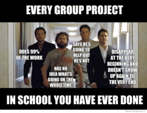 The Hangover Group Project Meme