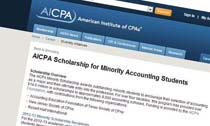 AICPA Scholarship for Minority Accounting Students