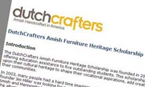 Dutchcrafters Amish Furniture Heritage Scholarship