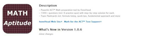 Math aptitude for the ACT Test
