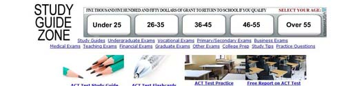 Study Guide Zone ACT Test