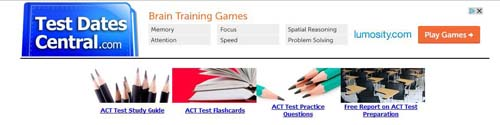 Test Dates Central ACT Test dates