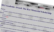 The Kor Memorial Scholarship