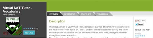 Virtual SAT Tutor Vocabulary from Ivy Standard
