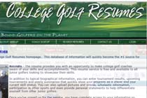college golf resumes
